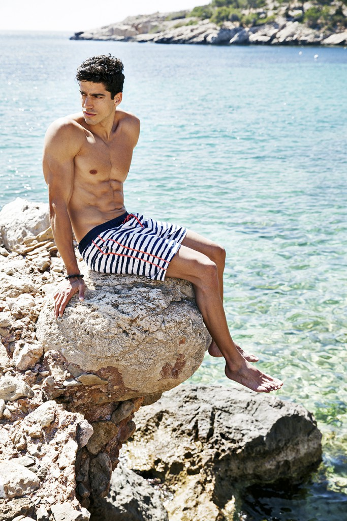 BeachlifeSS16_lowres_Painted Stripe men short 0856